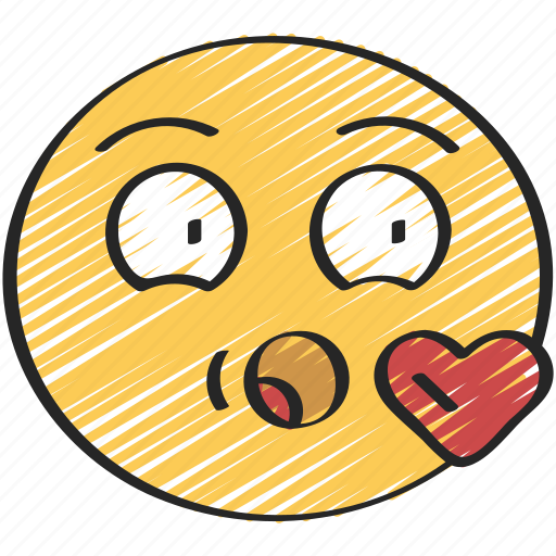 blow, emoji, emoticon, heart, kiss, love icon