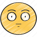 blank, emoji, emoticon, expression, face, straight