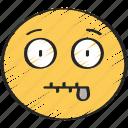 emoji, emoticon, mouth, shut, zip, zipped icon