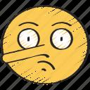 lying, emoticon, nose, pinocchio, lie, emoji icon