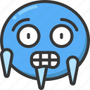 cold, emoji, emoticon, freeze, freezing, ice icon