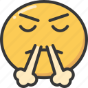 air, annoyed, emoji, emoticon, frustrated, nose icon