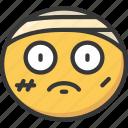 bandage, bandaid, emoji, emoticon, hurt, injured
