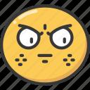 and, annoy, annoyed, embarrass, embarrassed, emoji, emoticon icon