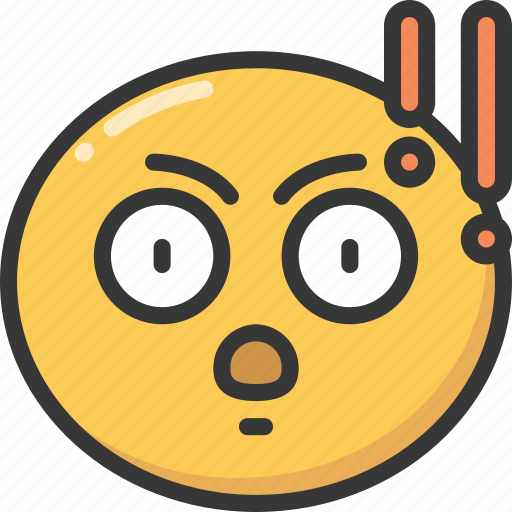 emoji, emoticon, explanation, expression, point, serious icon