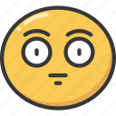 blank, emoji, emoticon, expression, face, straight icon
