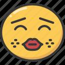 emoji, emoticon, kiss, kissing, lips, red