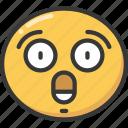 emoji, emoticon, expression, really, shock, shocked