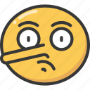 nose, emoji, lying, pinocchio, lie, emoticon icon