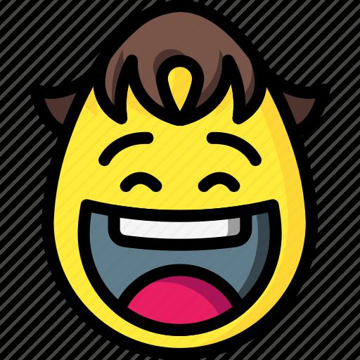 boy, emojis, emotion, laugh, laughing, mad, smiley icon