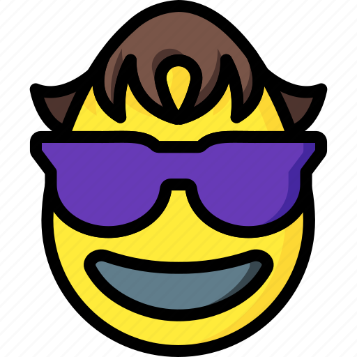awesome, cool, emojis, emotion, smiley, trendy icon
