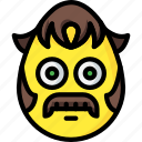 emojis, emotion, flanders, mustache, ned, sideburns, smiley icon