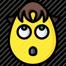 boy, confused, emojis, good, greif icon