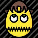 boy, emojis, emotion, silent, smiley, zip, zippit icon