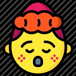 confused, dear, emojis, emotion, girl, oh, smiley icon