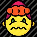 emojis, emotion, girl, sick, smiley, upset icon