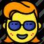 emojis, emotion, girl, glasses, smiley icon