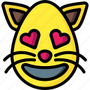 cat, emojis, feline, hearts, love, pet icon
