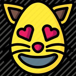 cat, emojis, feline, hearts, love, pet icon