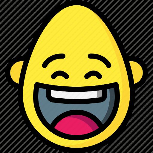 crazy, emojis, emotion, happy, laugh, smiley icon