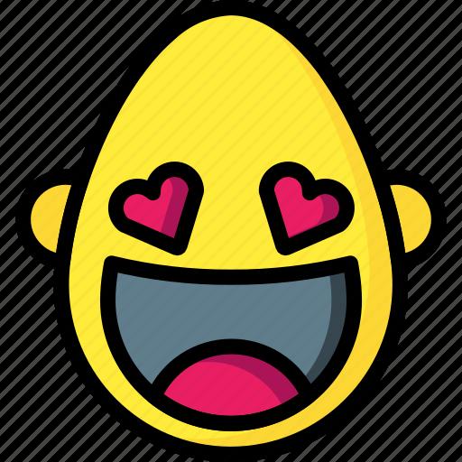 bold, emojis, emotion, happy, hearts, love, smiley icon