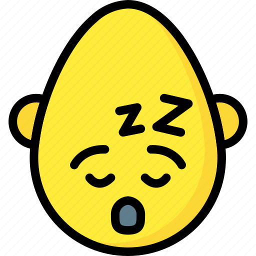 bold, emojis, emotion, nap, sleep, smiley, tired icon