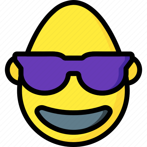 bold, cool, emojis, emotion, shades, smiley icon