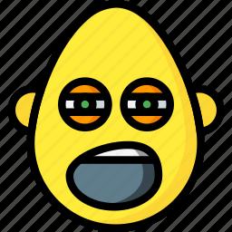 bold, emojis, emotion, sleepy, smiley, tired, yawn icon