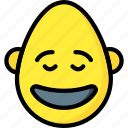 bold, emojis, emotion, happy, man, smile, smiley icon