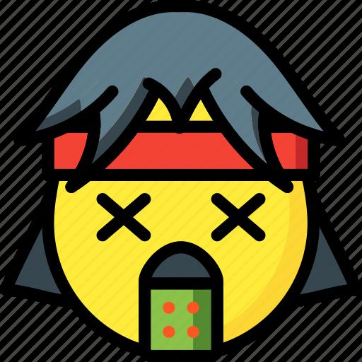 emojis, emotion, first, rock, rocker, sick, smiley icon