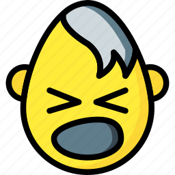 emojis, emotion, goth, scream, smiley icon