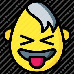 emojis, emotion, goth, tongue icon