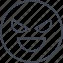 angry, emoji, evil, sad icon