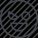 avatar, emojir, evil, wink icon