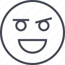 emoji, face, happy, joy icon