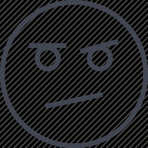 angry, emoji, face, sad icon