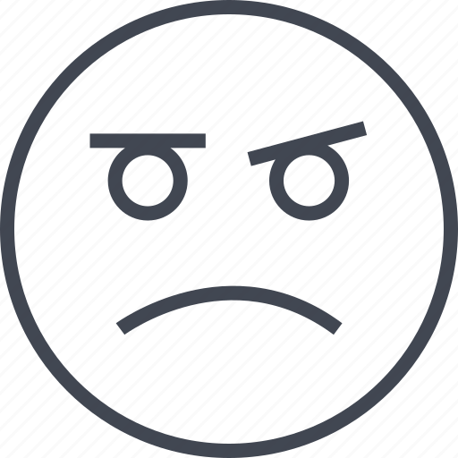 Angry, emoji, face, sad, saness icon - Download on Iconfinder