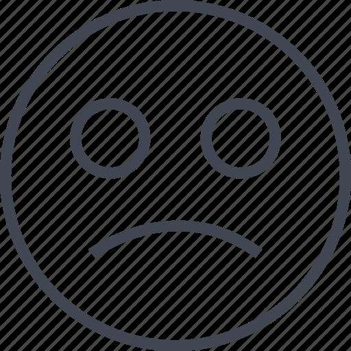 emoji, face, sad, sadness icon