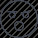 emoji, face, yell, yelling icon