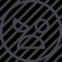 angry, emoji, face, sad
