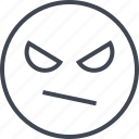 emoji, eyes, face, think icon