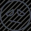 emoji, eyes, face, sad