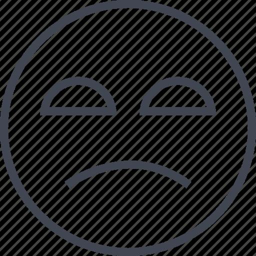 bored, emoji, face, sadness icon