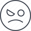 emoji, face, sadness, wink icon
