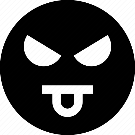 emotion, evil, face, faces, tongue icon