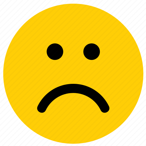 emoji, emoticon, emotion, face, sad, unhappy icon