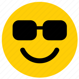 emoji, emoticon, face, sunglasses icon