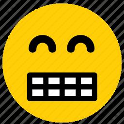emoji, emoticon, face, happy, smile, smiling icon