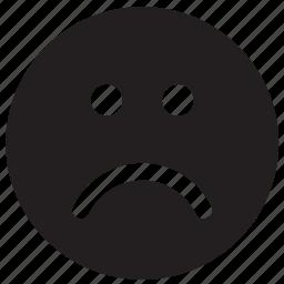 emoji, emoticon, emotion, face, sad, unhappy icon