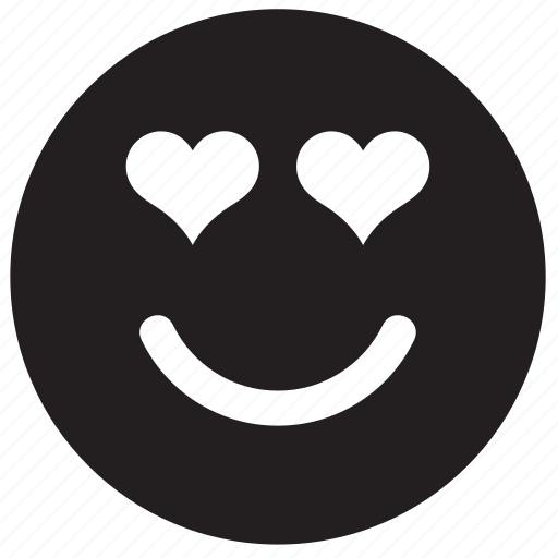 emoji, emoticon, emotion, face, heart, in love, love icon